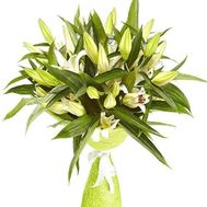 Bouquet of 11 lilies - flowers and bouquets on flora.od.ua