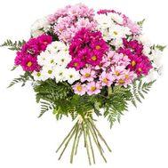 Букет з 13 різнокольорових хризантем - цветы и букеты на flora.od.ua