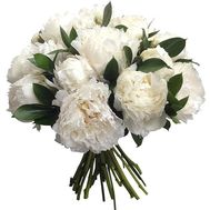 """Bouquet of 15 white peonies"" in the online flower shop flora.od.ua"