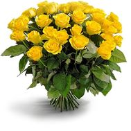 Bouquet of 25 yellow roses - flowers and bouquets on flora.od.ua