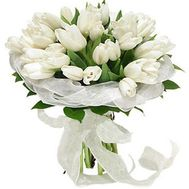 """Bouquet of 35 white tulips"" in the online flower shop flora.od.ua"