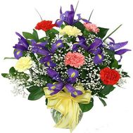 """Bouquet of irises and carnations"" in the online flower shop flora.od.ua"