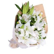 Bouquet of lilies, gerberas and alstromeries - flowers and bouquets on flora.od.ua