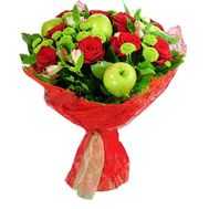 Bouquet of roses with apples - flowers and bouquets on flora.od.ua