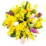 """Bouquet with mimosa"" in the online flower shop flora.od.ua"