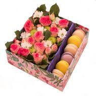 Цветы и пирожные - цветы и букеты на flora.od.ua