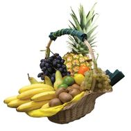 Fruits in a gift basket - flowers and bouquets on flora.od.ua