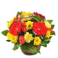 Basket mix colors - flowers and bouquets on flora.od.ua