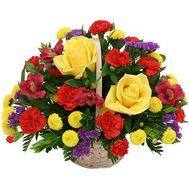 Корзина цветов микс - цветы и букеты на flora.od.ua