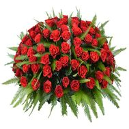 Basket of 101 roses - flowers and bouquets on flora.od.ua