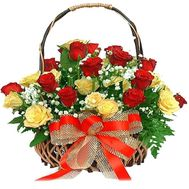 Basket of 25 roses - flowers and bouquets on flora.od.ua