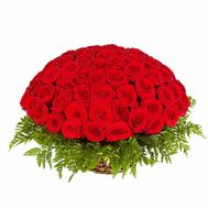 Basket of 51 roses - flowers and bouquets on flora.od.ua
