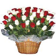 Кошик з 55 троянд - цветы и букеты на flora.od.ua