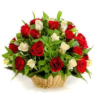 Basket of roses - flowers and bouquets on flora.od.ua