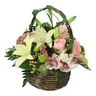 Basket of roses and orchids - flowers and bouquets on flora.od.ua