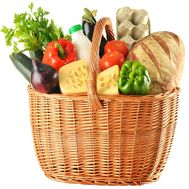 Basket of products as a gift - flowers and bouquets on flora.od.ua