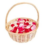 Basket with roses petals - flowers and bouquets on flora.od.ua