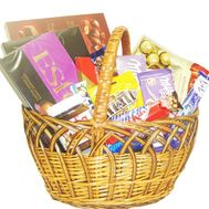 Basket with sweets as a gift - flowers and bouquets on flora.od.ua