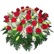 Кошик з троянд і лілій - цветы и букеты на flora.od.ua