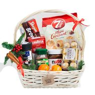 Basket with coffee for New Year - flowers and bouquets on flora.od.ua