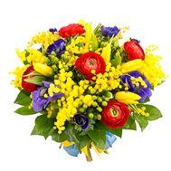 """""""Мимоза и ранункулюсы"""" в интернет-магазине цветов flora.od.ua"""