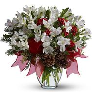 New Year bouquet of flowers from alstroemeria - flowers and bouquets on flora.od.ua