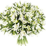 A huge bouquet of 101 lilies - flowers and bouquets on flora.od.ua