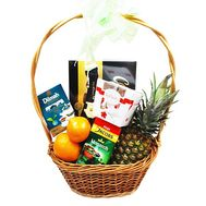 Gift basket with products - flowers and bouquets on flora.od.ua