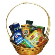 Gift shopping basket - flowers and bouquets on flora.od.ua