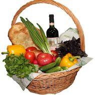 Подарунковий продуктовий набір в кошику - цветы и букеты на flora.od.ua