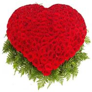 """Heart of 201 roses"" in the online flower shop flora.od.ua"
