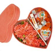 Sweets and flowers in a box - flowers and bouquets on flora.od.ua