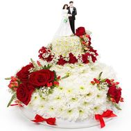 """Wedding cake from flowers"" in the online flower shop flora.od.ua"