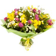 """Spring bouquet with mimosa"" in the online flower shop flora.od.ua"