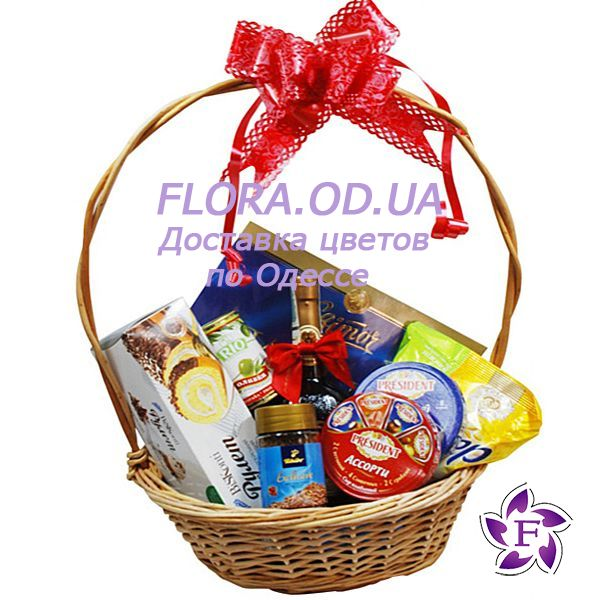 """Gift basket with cognac"" in the online flower shop flora.od.ua"