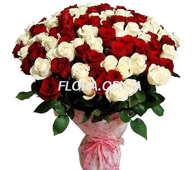 """101 multi-colored roses 70 cm"" in the online flower shop flora.od.ua"
