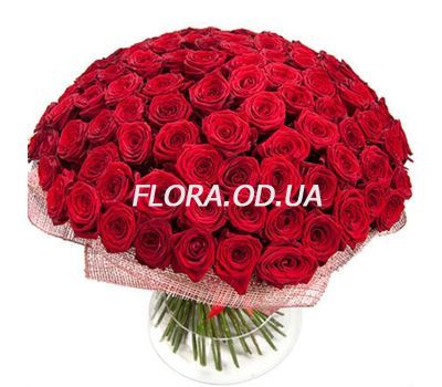 """121 red roses 60 cm"" in the online flower shop flora.od.ua"