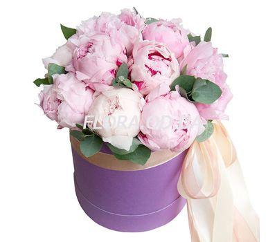 """""""13 розовых пионов в коробке"""" в интернет-магазине цветов flora.od.ua"""