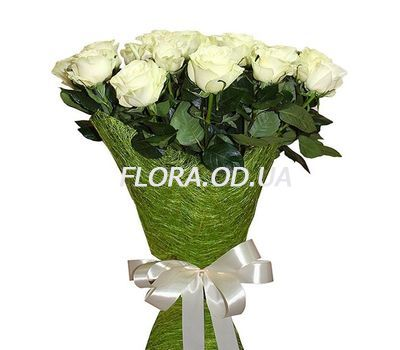 """15 imported white roses"" in the online flower shop flora.od.ua"
