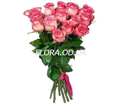 """15 imported pink roses"" in the online flower shop flora.od.ua"