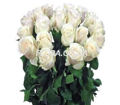 """21 imported white roses"" in the online flower shop flora.od.ua"