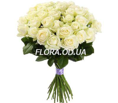 """""""25 белых роз в букете"""" в интернет-магазине цветов flora.od.ua"""