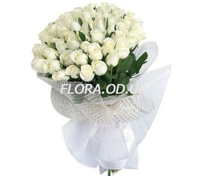 """35 white imported roses"" in the online flower shop flora.od.ua"