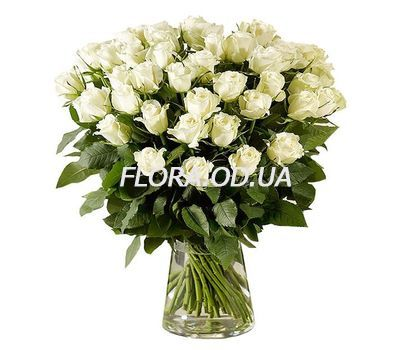 """""""45 imported white roses"""" in the online flower shop flora.od.ua"""