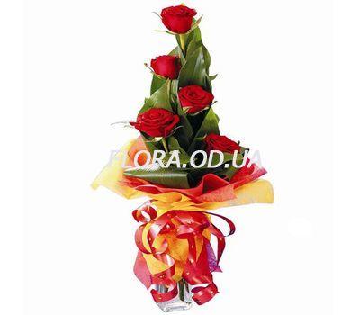 """""""5 import roses"""" in the online flower shop flora.od.ua"""