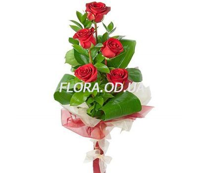"""5 red roses"" in the online flower shop flora.od.ua"