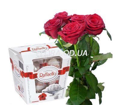 """""""5 роз и Raffaello"""" в интернет-магазине цветов flora.od.ua"""