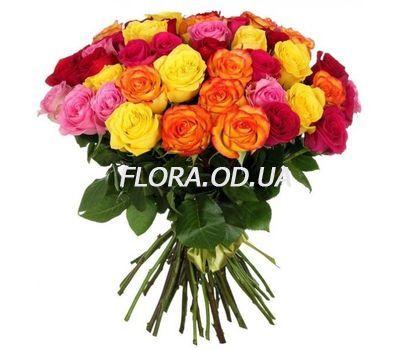 """""""55 разноцветных роз"""" в интернет-магазине цветов flora.od.ua"""