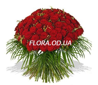 """65 red roses 60 cm"" in the online flower shop flora.od.ua"