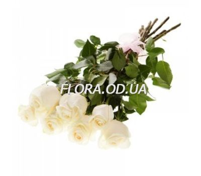 """7 imported white roses"" in the online flower shop flora.od.ua"